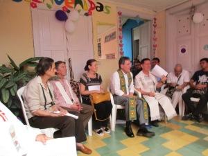 (parte de asistentes, de izquierda a derecha) Maria Teresa, Vicente Mejia, Piedad, Ancizar, Julio E. Santamaria
