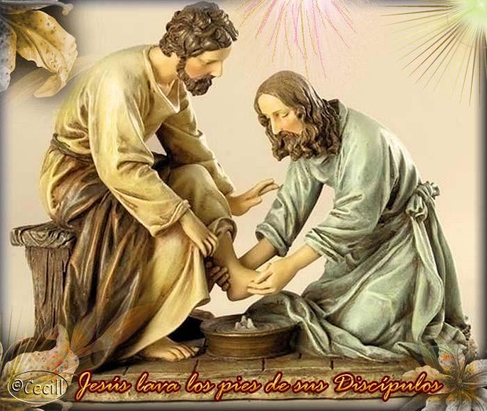 Resultado de la imagen para JESUS LAVANDO LOS PIES